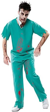 EUROCARNAVALES Disfraz de Médico Zombie para Hombre: Amazon.es ...