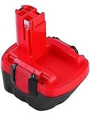 Topbatt 12V 3.0Ah Ni-MH batterij voor Bosch BAT043 BAT045 BAT120 BAT139 2607335542 2607335526 2607335274 2607335709 GSR 12-2 12VE-2 PSR 12 GSB 12VE-2 22612 23612 32612 (12v)