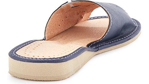 Foncé Plates Chaussures Été Claquettes Femme LABR27 Bleu Pantoufles Ladeheid Mules Sandales 4wgq7naU
