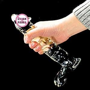 CS Super Large Long Crystal Glass Pe+niš Couple Passionate Tools Ice Fire Female Mâ-sturbation G Point Back Court Â-dult Supplies