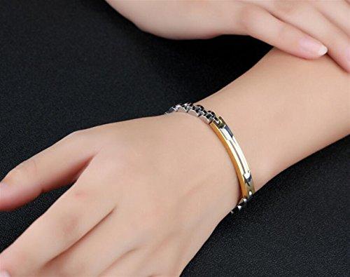 Dalino Fashion and Personality Fashion New Arrow Pattern Titanium Steel Bracelet for Valentine's Day Present(Golden) by Dalino