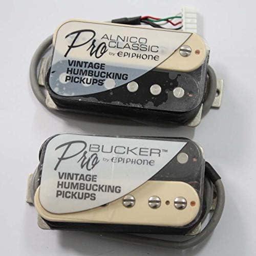 Amazon _ musoo 1セット ProBucker Alnico エレキ ギターゼブラ ハムバッカーピックアップ EPI用 プロワイヤーハーネス _ エレキギターピックアップ _ 楽器