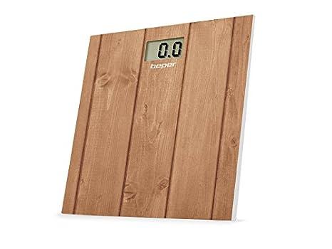 Beper 40.810F2 - Báscula de baño, diseño madera: Amazon.es: Salud y cuidado personal