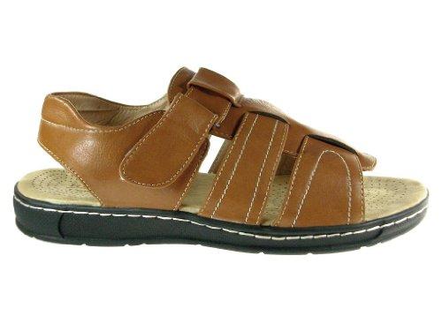Mens Jf1-33 Komfort Öppen Sandaletter Tan