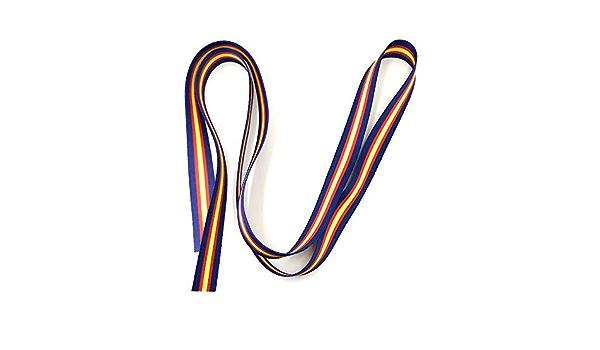 Tarja 73   Cinta 1M X 1,5 CM Pulseras Lazos Con la Bandera de España   Impresa a doble cara   Bandera española   Azul marino: Amazon.es: Oficina y papelería