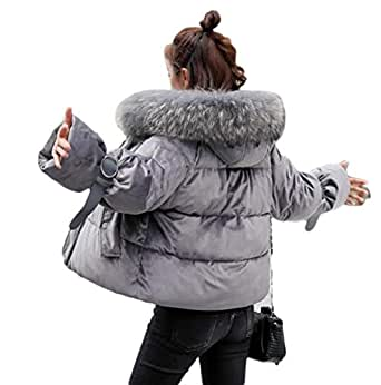 Amazon.com: Womens Short Winter Jacket Thickening Warm Outerwear Parkas Cotton Coats: Clothing