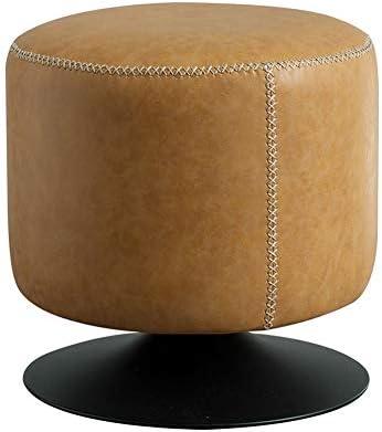 Peachy Amazon Com Hmdx Swivel Ottoman Footstool Round Leather Evergreenethics Interior Chair Design Evergreenethicsorg