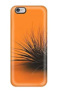 Fashionable Style Case Cover Skin For Iphone 6 Plus- Orange Chaos Black