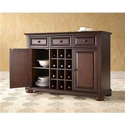 CHOOSEandBUY Vintage Mahogany Dining Room Organizer Sideboard Buffet Server Table New Sturdy Classic Elegant Furniture (Mahogany Buffet)