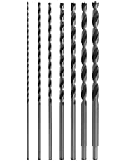 """12"""" Long Brad Point Bit Set (7 Drill Bit Set). Perfect for Drilling Wood, Plastic, Drywall and Composite Materials"""