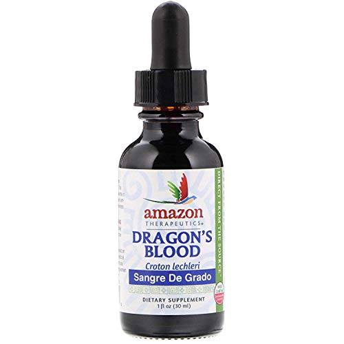 Sangre de Grado - Dragon's Blood (1oz) Wild Crafted - Gluten Free - Keto Friendly - Vegan Certified - Non-GMO - Certified Organic - All Natural - Kosher