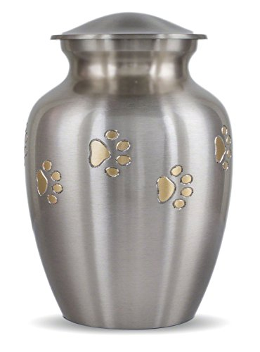 - Best Friend Services Classic Paws - Pewter with Brass Paws (Large)