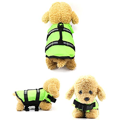Debuy Pet Safety Vest Dog Life Jacket Tops Reflective Stripe Preservers Pet Supplies Accessories from Debuy
