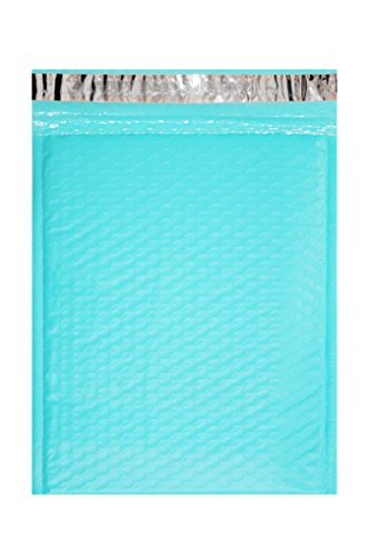 Mint Envelope (Poly Bubble mailers Padded envelopes. Pack of 20 Hot Teal envelopes 6 1/2 x 9 (6.5 x 9). Outside size 7x9 (7 x 9). Peel-N-Seal. Mailing & shipping & packing. Mint & light green & light blue. Mfg# 6x9.)