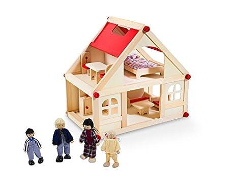 Glow b spielwaren casa delle bambole con pezzi di