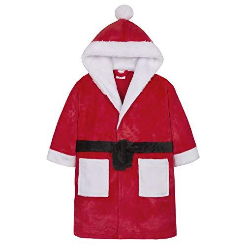 Metzuyan Boys & Girls Santa Hooded Christmas Dressing Gown 7-8 Years Red