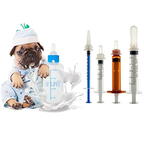 Pet Feeding Bottle. Pet Syringe. Pet Puppy Bottles. Dog and cat Feeding Bottle and Wild Animal Silicone Nipples (Feeding Tool) ()