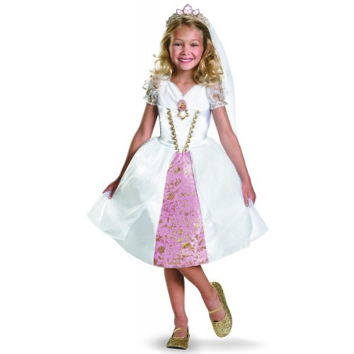 Disney Tangled Rapunzel Wedding Gown Costume, Gold/White/Pink, (Rapunzel Wedding Halloween Costume)
