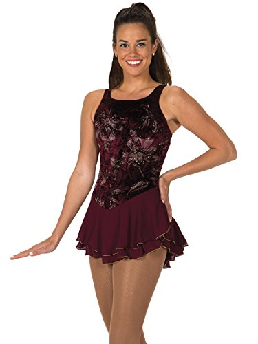 Jerry's Figure Skating Dress 118 (Adult Small, Burgundy)