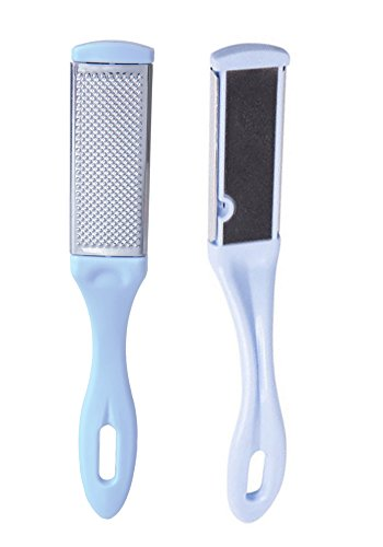 Foot File Pedicure Rasp Double-Sided Callus Remover Sided Iron Sand Blue (Pedicure Pro File Foot)