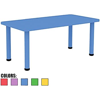 Beau 2xhome U2013 Blue U2013 Kids Table U2013 Height Adjustable 18.25 Inches To 19.25 Inches    Rectangle