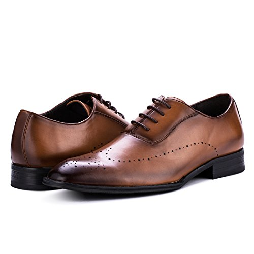 Jivana Oxford Busniess Dress Shoes for Men Father Lace-up (9, Brown-7) by Jivana (Image #7)