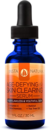InstaNatural Vitamin C Skin Clearing Serum - Anti Aging Formula with Retinol & Hyaluronic Acid - Natural & Organic Wrinkle, Dark Spot, Fine Line & Hyperpigmentation Defying Facial Product - 1 OZ (Advanced Skin Care C Serum compare prices)