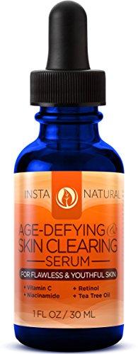 InstaNatural Vitamin C Skin Clearing Serum - Anti Aging Formula with Retinol & Hyaluronic Acid - Natural & Organic Wrinkle, Dark Spot, Fine Line & Hyperpigmentation Defying Facial Product - 1 OZ
