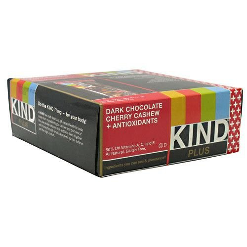 lus, Dark Chocolate Cherry Cashew + Antioxidants - 1.4oz each - Box of 12 - SUMMER BUNDLE WITH COLD PACK - 2 Boxes - (Product image may vary based on Manufacturer's updates) ()