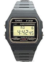 Relógio Masculino Casio Vintage F91WG9QDF, Preto