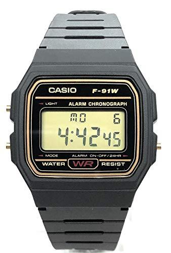 🥇 CASIO Reloj Hombre de Digital con Correa en Resina F-91WG-9QEF