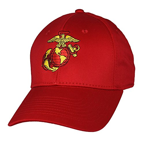 Eagle Crest US Marine Corps Red Anchor Globe Military Ball Cap