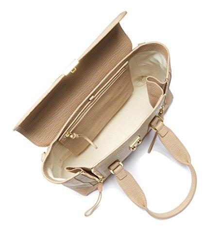 Borsa a mano 3.1 Phillip Lim Pashli medium satchel in pelle pregiata martellata nocciola