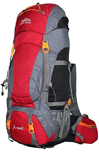 Mount Track X-Trail 9109 Hiking Rucksack 90 Ltrs with Rain Cover (Red) Price & Reviews