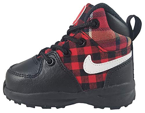 NIKE Boy's Manoa SE Toddler Boot, Black/Summit White-Habanero Red, 9C