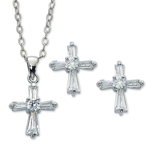 Cry Cross Pend & Earring Set