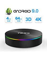 SIDIWEN T95Q Android 9.0 TV Box con 4GB RAM 64GB ROM Amlogic S905X2 Bluetooth4.1 2.4 / 5.0G WiFi Quad Core 64 bits H.265 3D UHD 4K Smart Internet TV Box