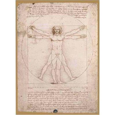 Editions Ricordi Puzzle 1000 pieces - The Vitruvian Man, Leonardo - (code 65221)
