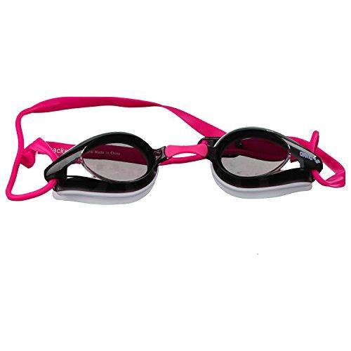arena Tracks Gafas de Natación, Unisex Adulto, Blanco (White / Clear), Talla Única rosa