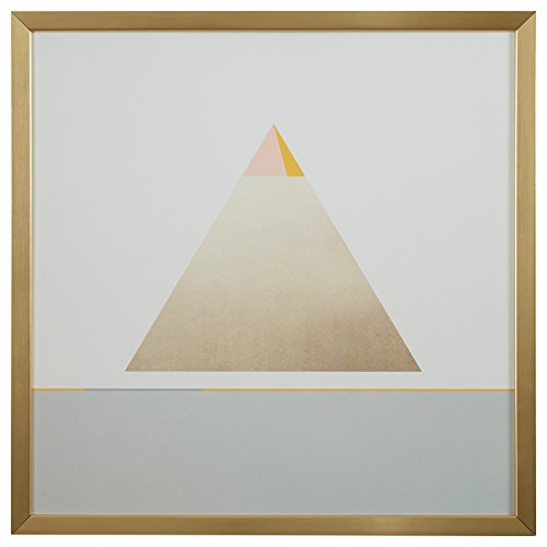 Modern Gold Pyramid Triangle Print Wall Art, Gold Pyramid Wall Art