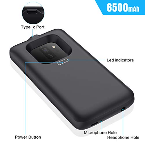 Battery Case for Galaxy S9 Plus 6500mAh, Upgraded Rechargeable Charging Battery Pack for Samsung Galaxy S9 Plus Protective Portable Extended Backup Charger Case for S9+ Power Bank Cover (Not S9)