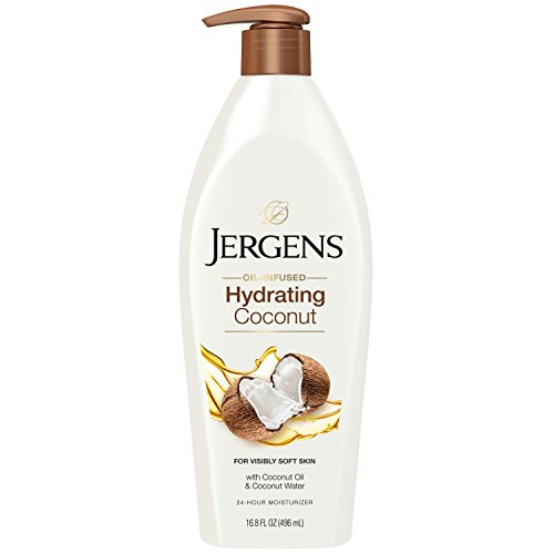Jergens Hydrating Coconut Dry Skin Body Moisturizer, 16.8 Ounces (Packaging May Vary) - Illuminating Body Moisturizer Lotion