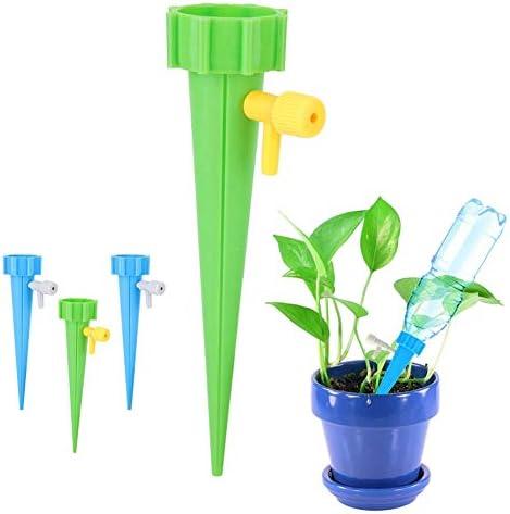 Nimoa Bewässerungswerkzeug, Garden Plant Selbstbewässernde einstellbare Einsätze Automatisches Spikes Bewässerungssystem-Werkzeug, 6PCS