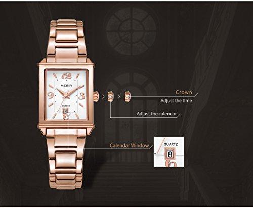f27c1ebecc208 Tayhot Womens Rectangle Rose Gold Watch