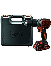 Black & Decker BL188K Accu-slagboorschroevendraaier, boormachine (18 V 1,5 Ah, met borstelloze 2 snelheden, led-werklicht, anti-slip softgrip, 1 stuks