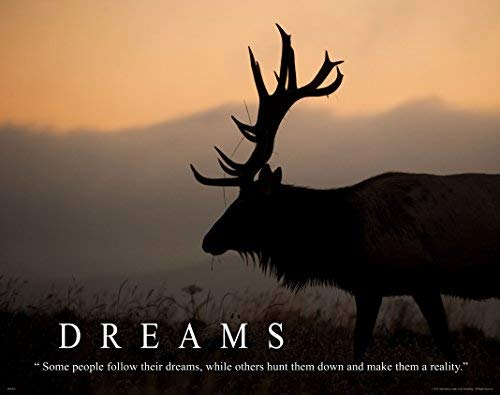Elk Bow Hunting Motivational Poster Art Print 11×14 Guide Service Gear Wall Decor Pictures