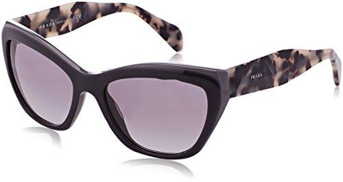 (Prada 02QS TFN3M1 Opal Grey Cats Eyes Sunglasses, 56mm)