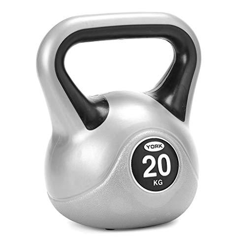 York Fitness Vinyl Kettlebell 8kg - Home Gym Equipment Perfect for Bodybuilding Weight Lifting Training Kettlebell