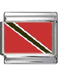 Stylysh Charms TRINIDAD TOBAGO FLAG Photo Italian 9mm Link PC178