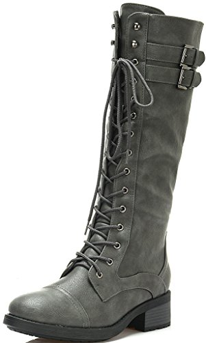Georgia On Women's PAIRS Furs Casual GEORGIA Knee Boots grey High Pull DREAM RqvU4W6W